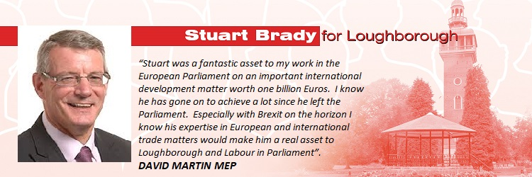Glad to be able to share these supportive comments for my Loughborough PPC campaign from David MartinMEP
