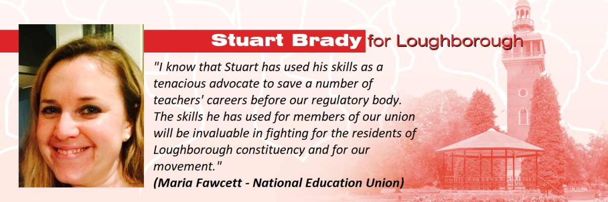 Glad to be able to share these supportive comments for my Loughborough PPC campaign from Maria Fawcett from the National EducationUnion