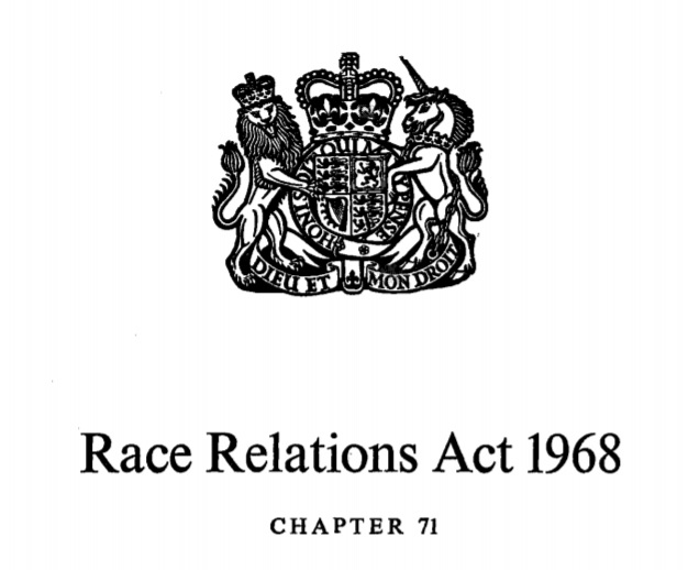 50 years since the Race Relations Act 1968: where are we now?  Time for politicians to step up to defend its legacy